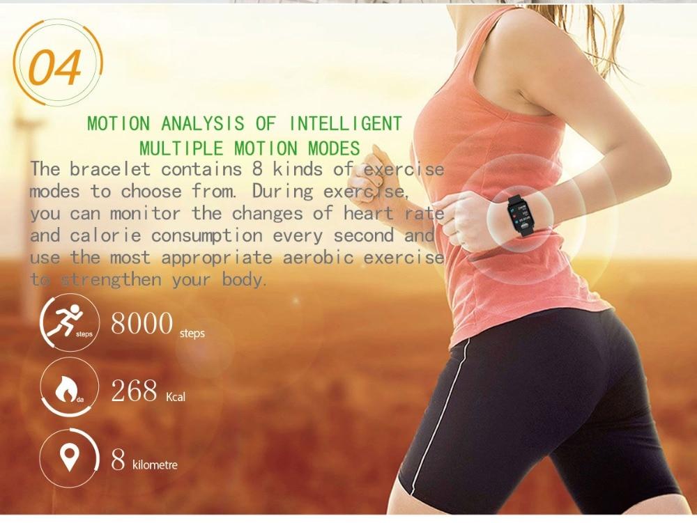 Relógio inteligente Pulseira Inteligente Rastreador De Fitness