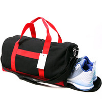 Canvas Sports Gym Fitness Bag With Shoe Compartment For Men Women Durable Multifunctional Shoulder Bag Sac
