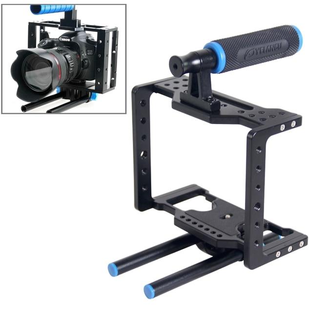лучшая цена YELANGU YLG0108D Protective Cage Handle Stabilizer Top Set for DSLR Camera,Compatible with most DSLR cameras