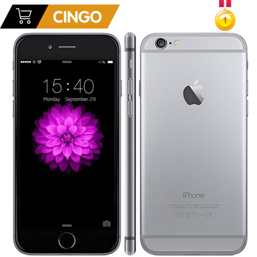 Desbloqueado original apple iphone 6 plus 16/64/128 gb rom 1 gb ram ios duplo núcleo 8mp/pixel 4g lte usado telefone móvel