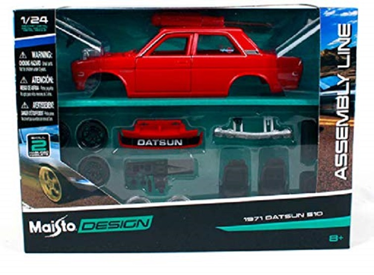 Maisto 1 24 1971 Datsun 510 Assembly DIY Diecast MODEL KITS Racing Car Vehicle Toy NEW