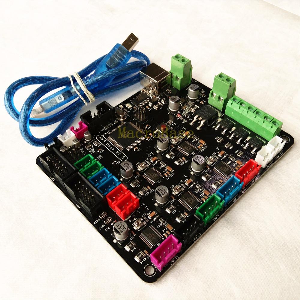 Prix pour MKS BASE V1.5 circuit intégré carte mère compatible Mega2560 R3 & RAMPS1.4 Marlin contrôle conseil RepRap Mendel Prusa i3
