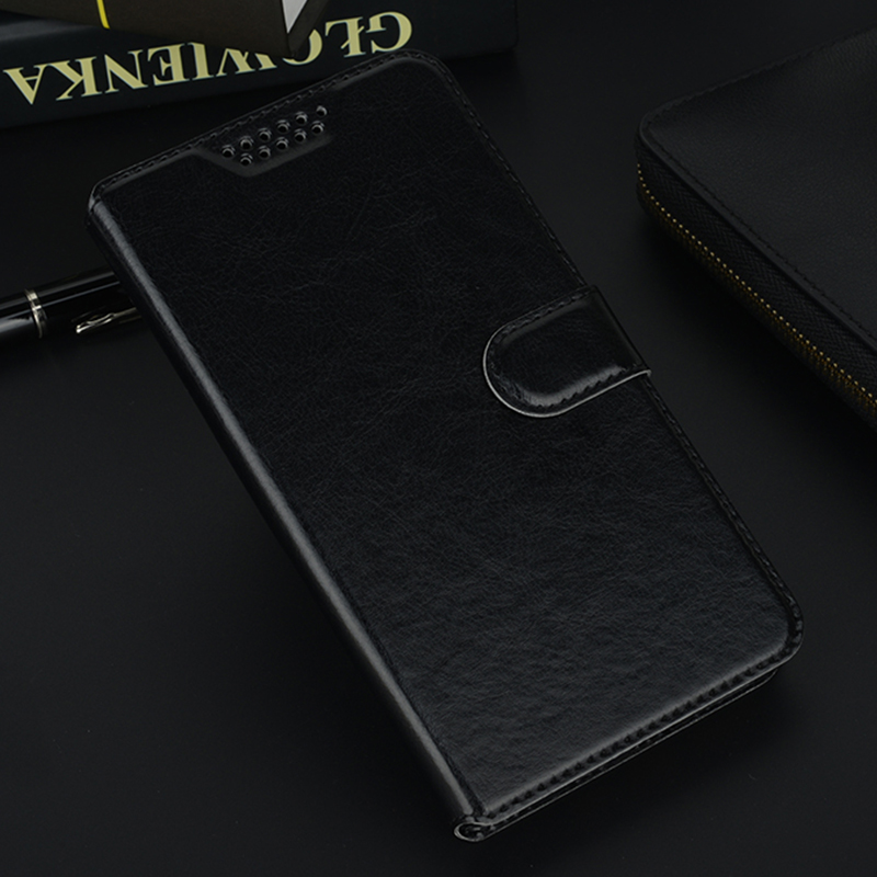 Flip Wallet Leather Phone Case Cover for <font><b>Alcatel</b></font> 1 1C 1X 1S 2018 2019 5033D 5009A 5059X <font><b>5008Y</b></font> 5003 Black Holster Soft Cases image