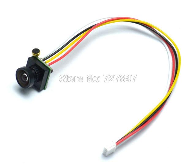 600TVL 170 degree super small color video mini FPV camera with audio for Mini 200 250 300 Quadcopter