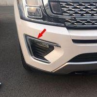 Fit 2018 New Ford Expedition Chrome Front Fog Light Lamp Eyelid Cover Trims