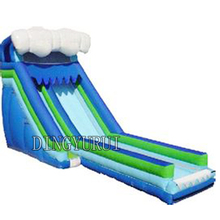 цена на 2016 PVC commercial inflatable water slide with pool /inflatable pool slide for kids and adults