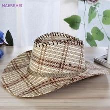 MAERSHEI 2018 Kapelë me kauboj kapelë për burra, Summer Outdoor Leisure Outdoor Straw Hat Large Beach Cap