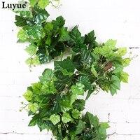 מודרני קישוט בית חנות הרשמי 2.2 M מלאכותי אייבי העלים גרלנד צמח ירוק מזויף מזויף גפן העלווה פרחי צמחים