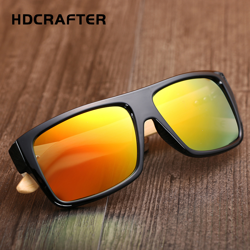 1b1bffb7afaef HDCRAFTER Oversized Bamboo Sunglasses Men s Wooden Sunglass for Women  Vintage Square Wood Sun Glasses Oculos de sol masculino-in Sunglasses from  Apparel ...