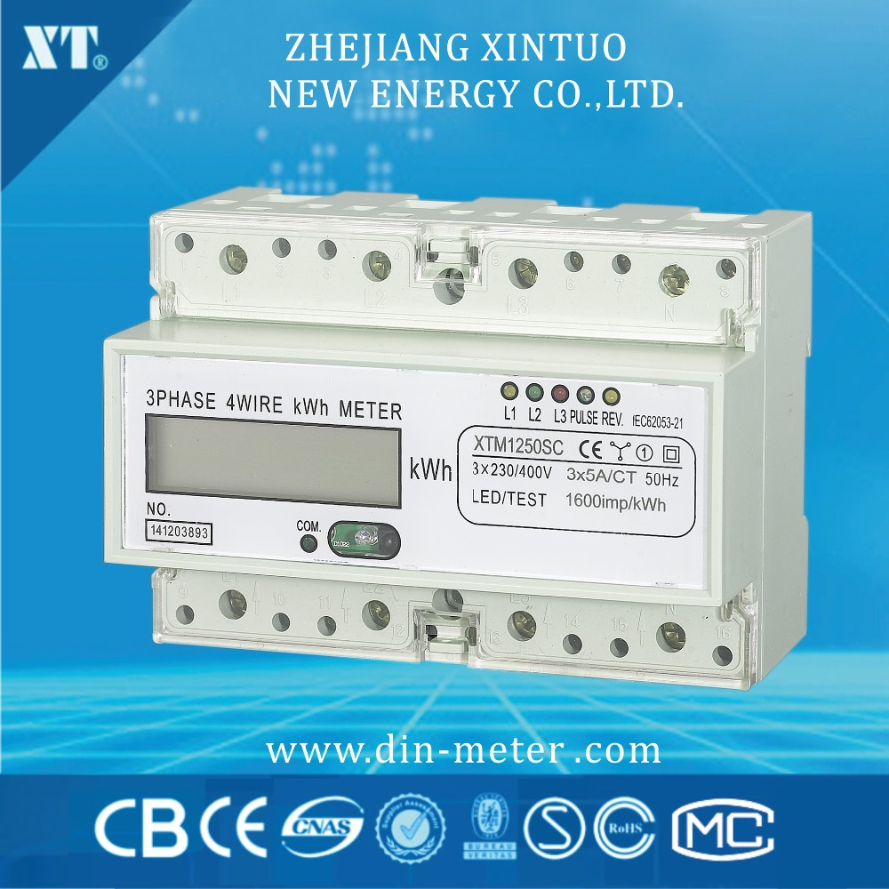 Three Phase 230V Din Rail Meter , Electricity Kwh Meter, Multi-function Energy Meter with RS485 Modbus output tusa rs 460 din