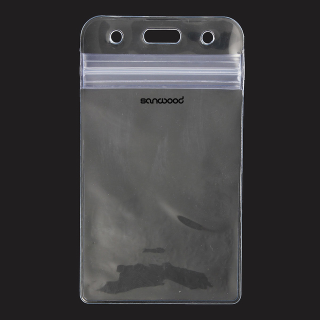 Newest 10pcs Vertical Transparent Vinyl Plastic Clear Id