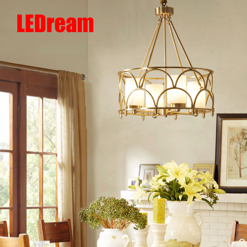 Contemporary  American creative full copper lamp glass designer example room sitting room bedroom chandeliers american rural wall lamp all copper bedroom berth lamp lens headlight corridor european contracted sitting room single head wal