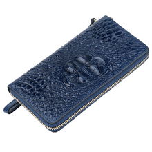 Premium 100% Genuine Leather Alligator Women's Wallets 2018 High-end Market Cowhide Large Capacity Long Purse With Hand Rope
