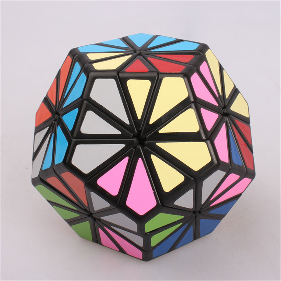 Magic Cubes Stress Reliever Great Children Cube Toy Pyraminx Crystal 12 Color Chrysanthemum Dodecahedron Puzzle Cube