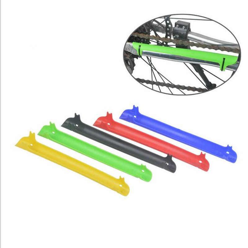Protection de fourche arrière pour vélo Protection de chaîne en plastique accessoires de vélo Protection de chaîne cadre de vélo protecteur de chaîne