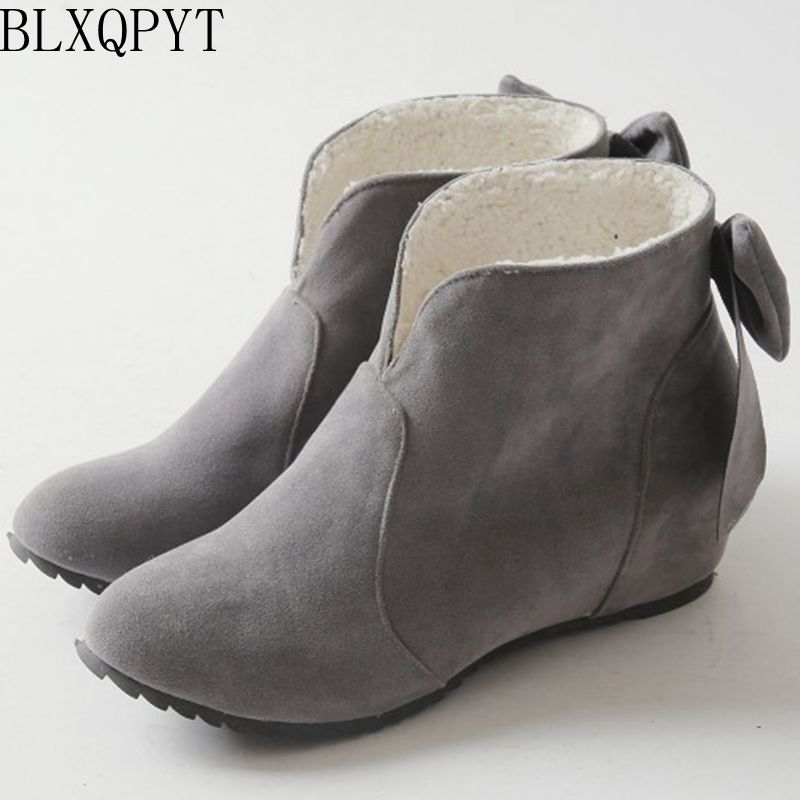 все цены на High Quality Women Snow Boots 2015 Spring Autumn Boots Lace Up Ankle Casual Brand Winter Shoes Women's Boots Plush 8095