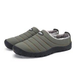 Image 2 - ฤดูหนาวผู้ชายรองเท้าผู้ชาย Plush รองเท้าแตะขนแกะขนสัตว์ผ้าฝ้าย เบาะบ้านรองเท้าแตะในร่มรองเท้าแบน PLUS ขนาด flip Flops