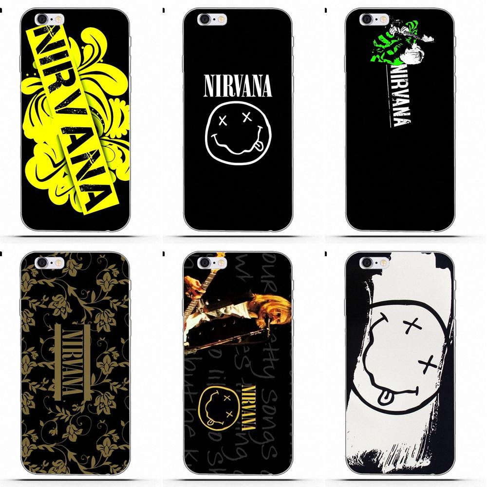Perciron <font><b>Pop</b></font> musique <font><b>bande</b></font> Logo Nirvana pour iPhone 4 4S 5 5C SE 6 6 S 7 8 Plus X Galaxy S5 S6 S7 S8 Grand Core II Prime Alpha image