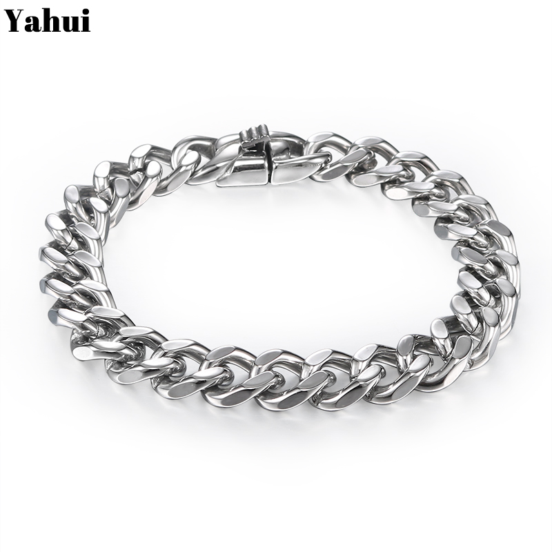 YaHui stainless steel bracelets bangles personalized bracelet chain link men bracelet gifts for men accessories jewelryYaHui stainless steel bracelets bangles personalized bracelet chain link men bracelet gifts for men accessories jewelry