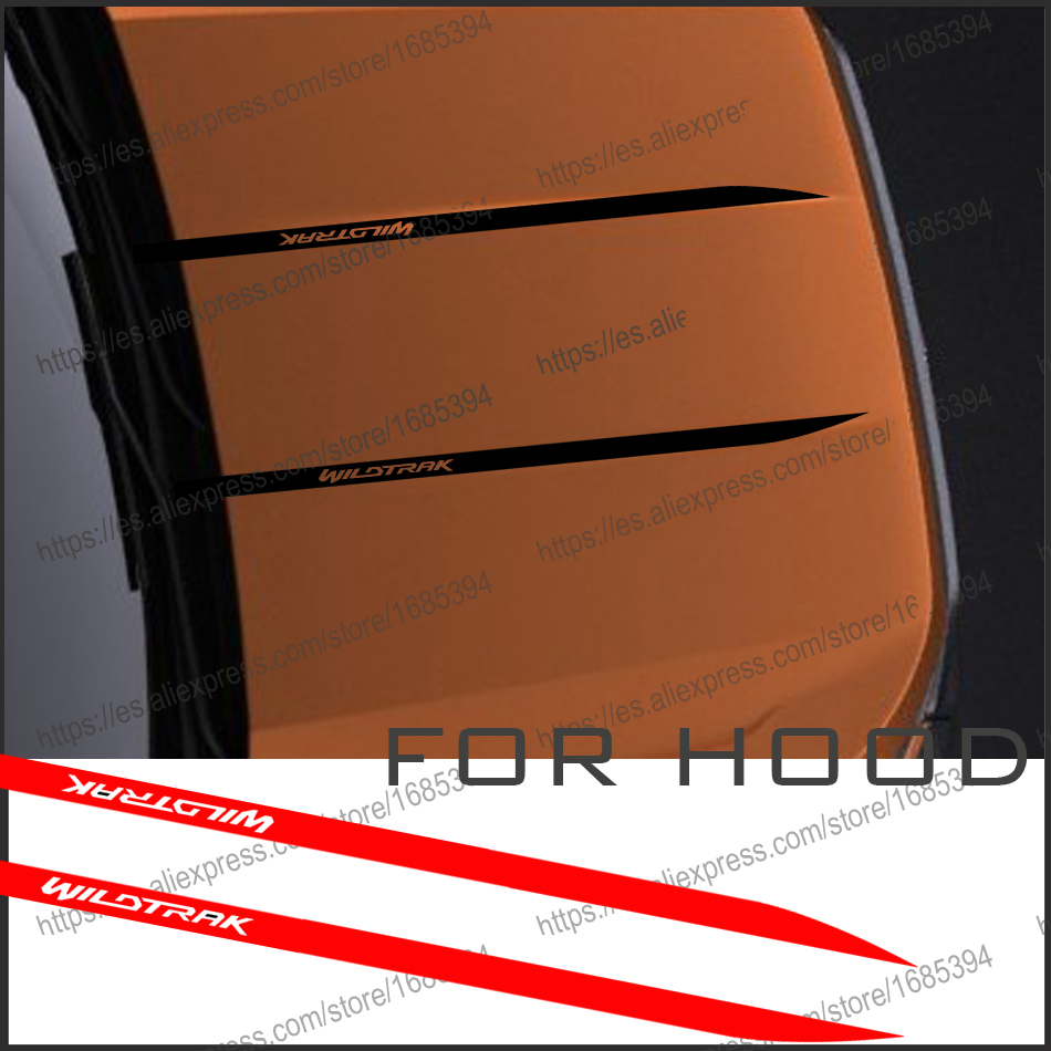 free shipping  2 PC cool hood bonnet Gradient side stripe graphic Vinyl sticker for  Ford ranger 2015 2016 2017sticker 2017 side bonnet cover for mitsubishi l200 triton bonnet hood cover for mitsubishi 2016 for ycsunz
