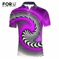FORUDESIGNS Summer Short Sleeved Men Polo Shirt Elastic Slim Bodybuilding Mens Polo Crocodile 3D Printing Camisa Polo Masculina