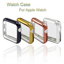 цена на TPU watch Case For Apple Watch case 4 44/40mm Bumper Frame Shell For iwatch series 3 2 1 38/42mm Soft Protective Cover Accessory
