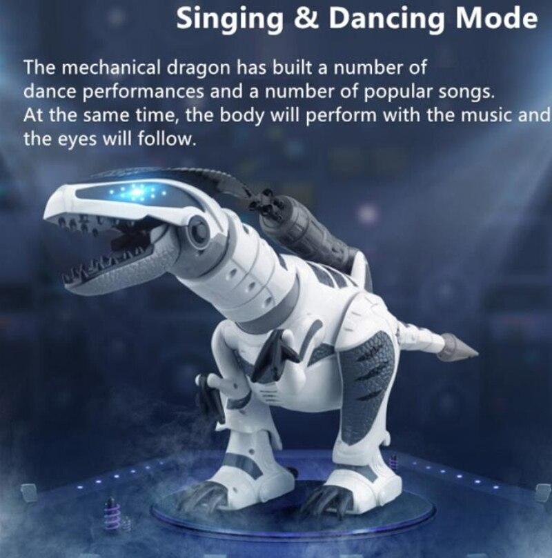 Gran venta de juguetes de dinosaurio inteligente Walking control remoto inalámbrico dinosaurio eléctrico biónico RC con sonido, música, baile, disparo - 3
