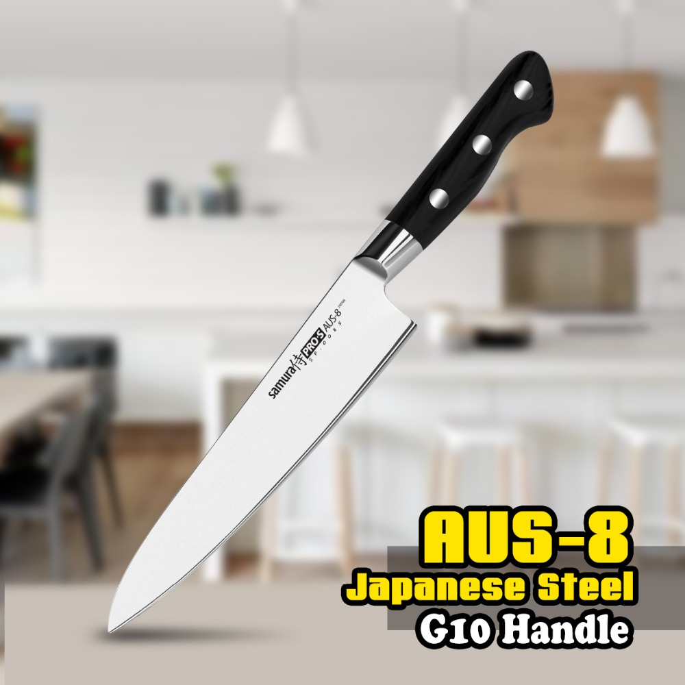 SP 0085 8 Inch Chef Knife AUS 8 Japanese Stainless Steel G10 Slicing Kitchen Blade Cutting