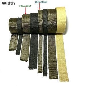 Image 5 - 25 mm X 5 meters motorcycle exhaust wrap tape auto engine protection turbo performance heat wrap titanium color lava rock fiber