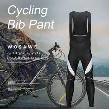 WOSAWE hombres manga completa babero ciclismo pantalones Mtb montaña  choques Bib Tights respirable suave Gel Pad 7d858f7c0170