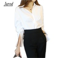 2017 New Women Autumn Blouse Shirt Two Piece Casual Turn Down Collar OL Shirt Wide Leg