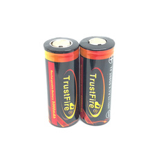 2PCS/LOT TrustFire 5000mAh 26650 3.7v Rechargeable Protected Li-ON Colorful battery batteries Free Shipping