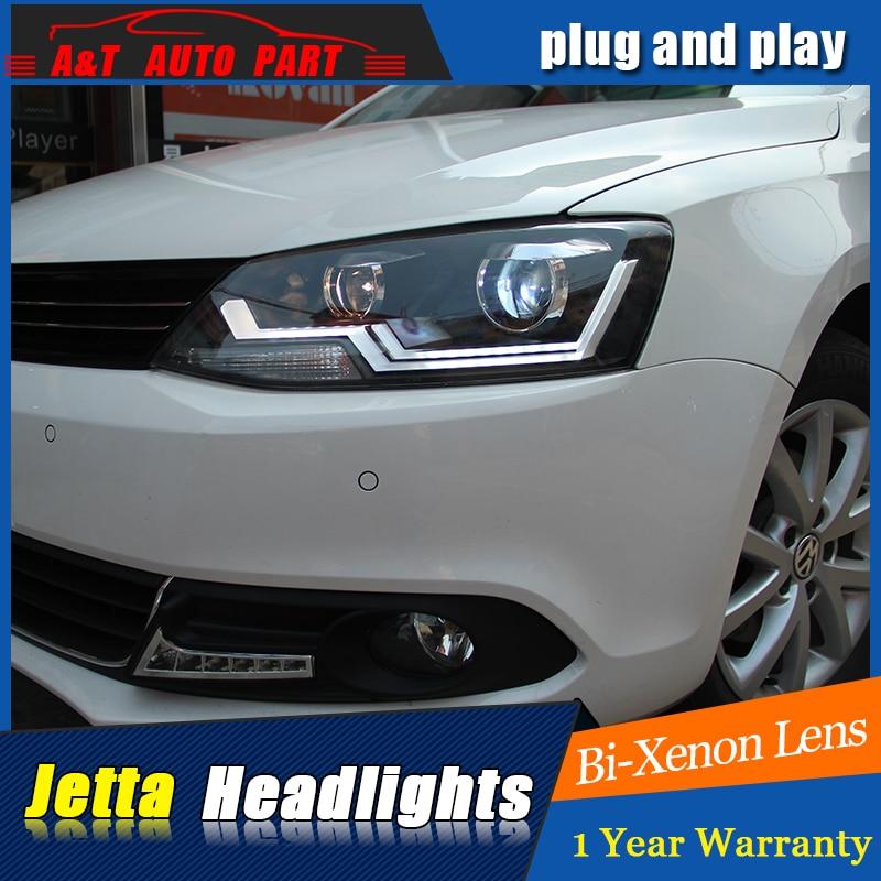 Авто Стиль освещения светодиодные лампы головного света для VW Джетта фары Сид удара 2011-2017 линии Волкс Ваген ДХО Н7 привет объектива ближнего света