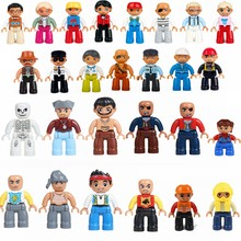 Single sale Legoing Duplo City doctor mother and father role model building block Duplo and legoings compatible children's toys(China)