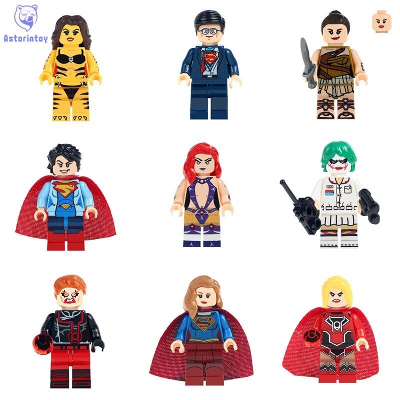 Строительные Блоки Одной Продажи Wonder Woman вспышки Супермен Кирпичи Модель Фигурки legoingly Дети Подарочные Игрушки