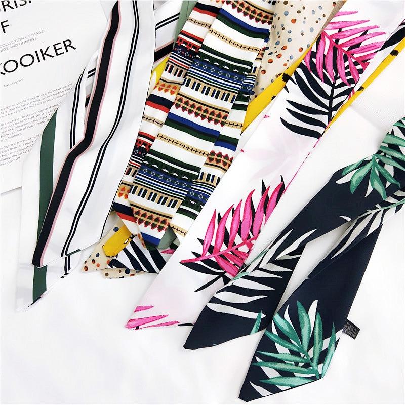 Ladies White Chiffon Scarf With Multi Flamingo Print Herren-accessoires