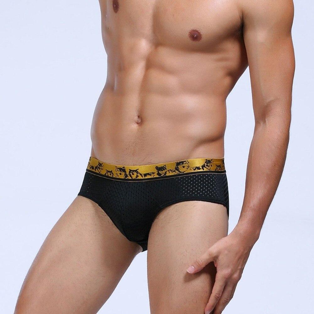 Wj Mens Penis Sleeve Underwear Briefs Sexy Underwear Men -4069