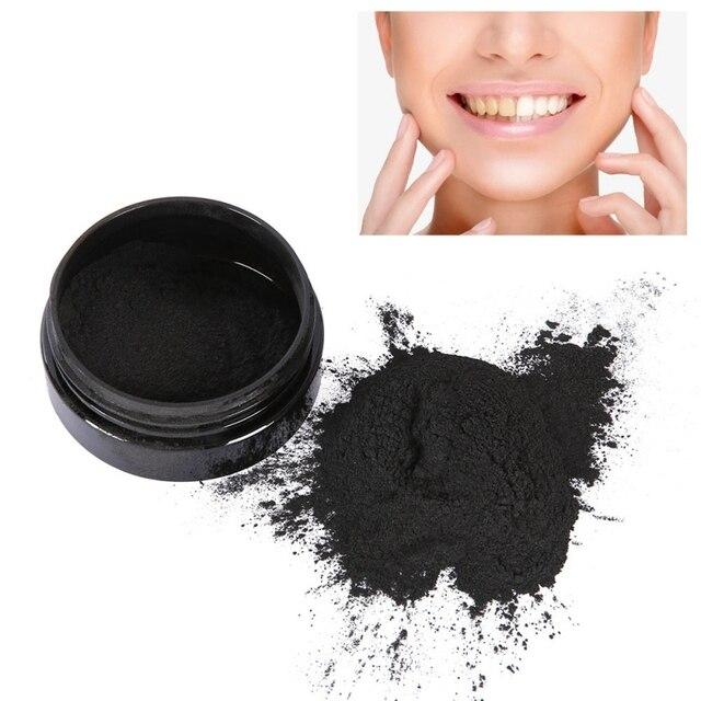 Nueva llegada polvo de blanqueamiento de dientes de pasta de dientes de cáscara de coco activado orgánico Natural limpio profundo