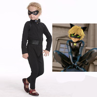 Kids Boys Cat Noir Cosplay Cosutume Girls Miraculous Ladybug Children Ladybug Costume Christmas New Year Party