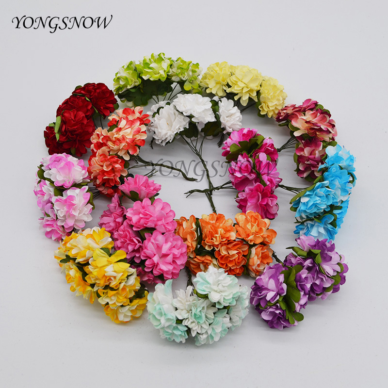 144pcslot 3cm artificial paper flowers chrysanthemum flower bouquet 144pcslot 3cm artificial paper flowers chrysanthemum flower bouquet wedding party decoration diy scrapbooking wreath flowers 8z in artificial dried mightylinksfo