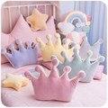 Princesa macio coroa travesseiro de dormir recheado travesseiro menina quarto sofá decoração arco-íris nuvem estrela celebridade estúdio fotografia almofada