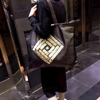 free shipping Big bags female brief shoulder bag large capacity women's trend handbag sheepskin all-match shopping bag