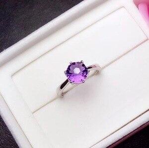 Image 4 - ที่เรียบง่ายและประณีต 925 Silver Amethystแหวนพิเศษราคาดึงดูดความสนใจ
