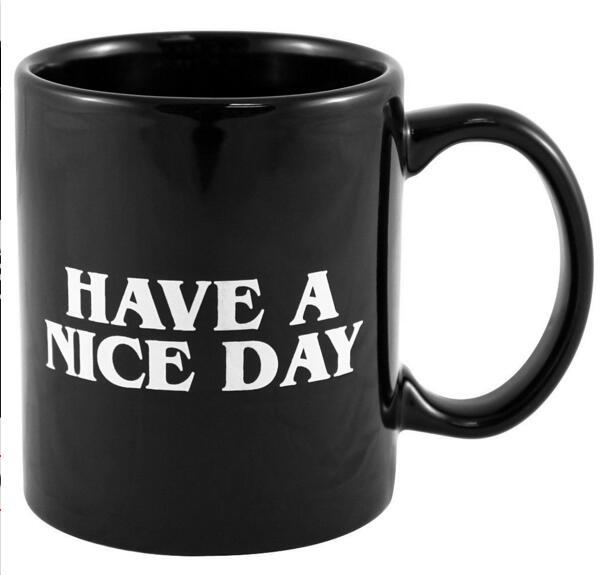 Creative Have a Nice Day Coffee Mug Middle Finger Funny Cup for Coffee Milk Tea Cups Novelty Gifts 10oz 1