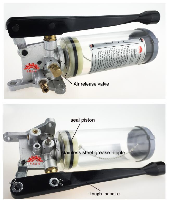 Ручная смазка масляный насос ручной смазки удобный масленка 6 мм выход из нержавеющей стали 800cc CLHA-30