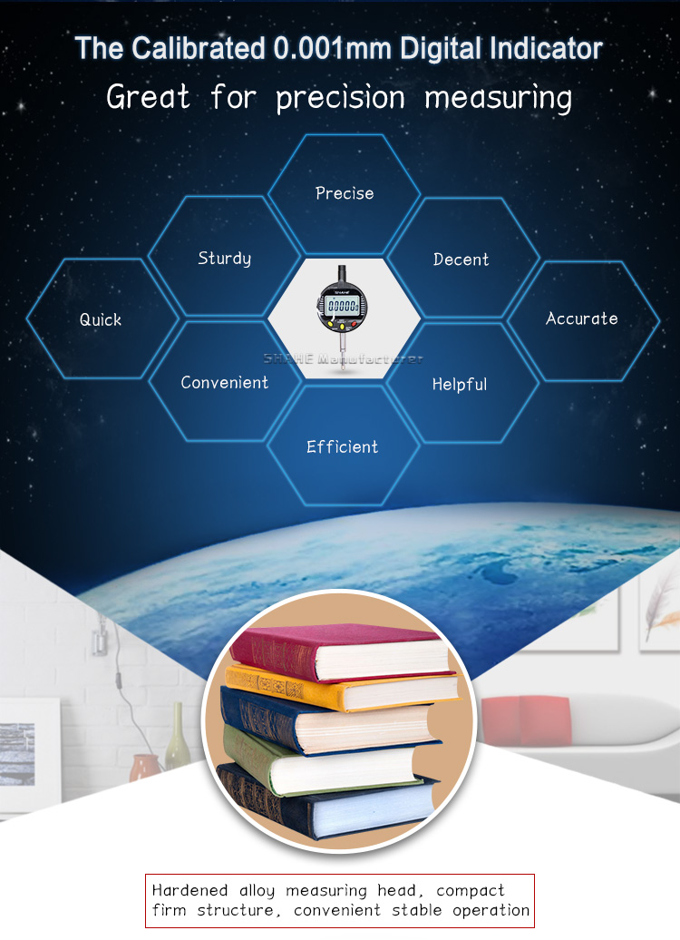 Мебель для спальни SHAHE 0-10/0-25/0-50 мм 0,001 цифровой циферблатный индикатор цифровой циферблат электронный цифровой ЖК-индикатор прецизионных инструментов