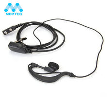 MEMTEQ Professional Earhanger Headset Earpiece Earphone Mic for Kenwood Walkie Talkie Rad Radio 2 Pin Headphones High Quality(China)