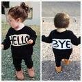 2 Pcs Da Criança Do Bebê Crianças Meninas Meninos Primavera Outono Outwear Definir Nova Moda T-shirt Tops Calças Outfits Clothes Set 1 2 3 4 5 6 ano