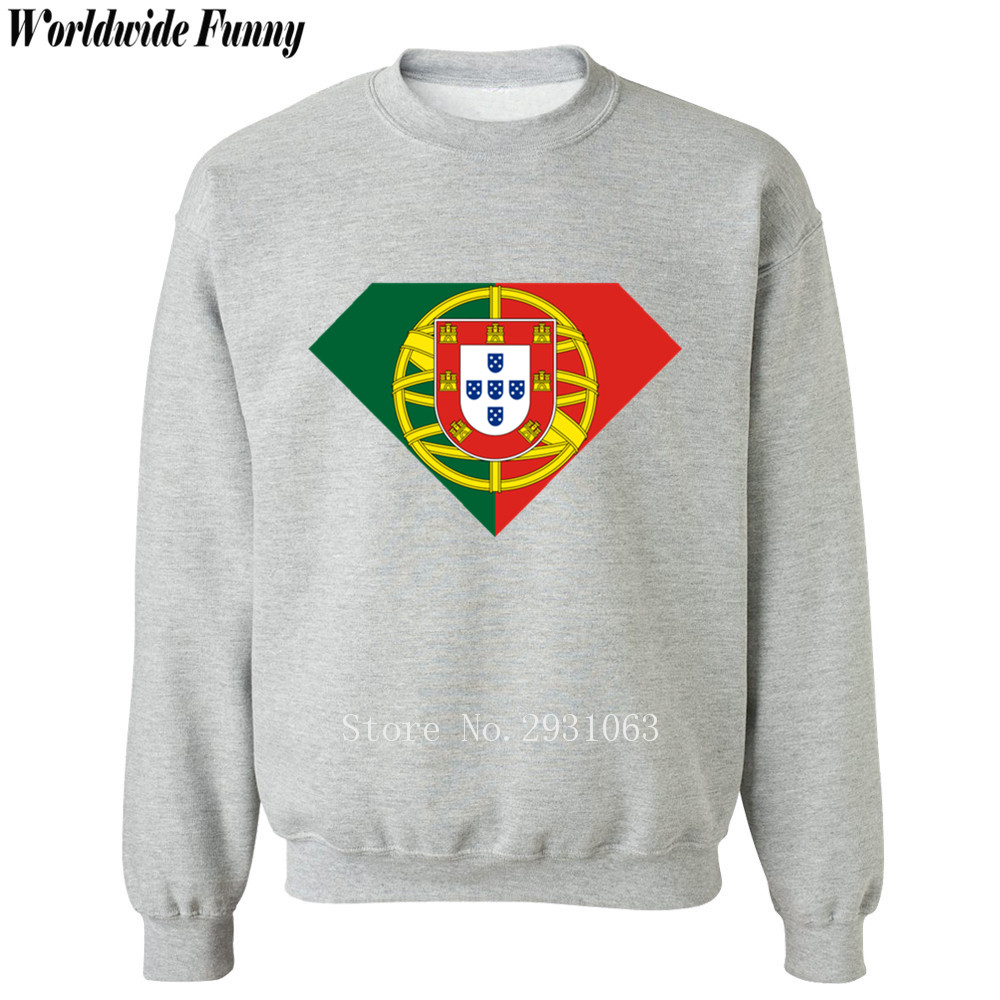 Spring winter printed 2018 Shield Super Portugal flag mens sportswear fashion casual sweatshirt men Crossfit hoodie tracksuits