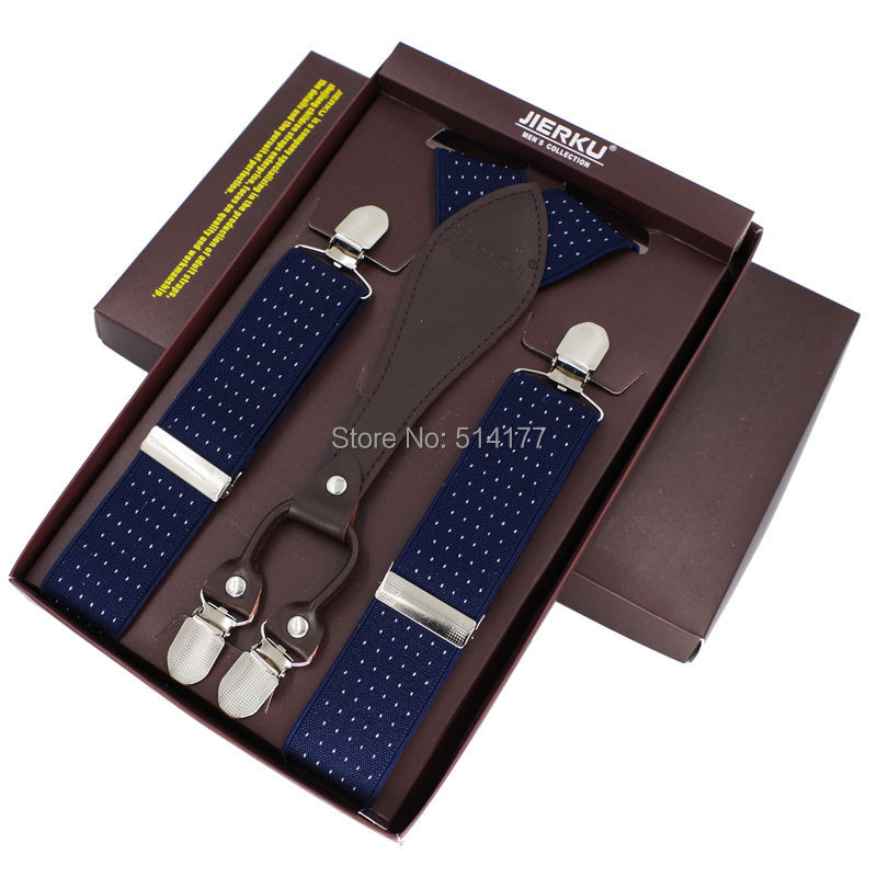 Man's Suspenders 4 Clips Braces Adjustable Bretelles Y-Back Ligas Tirantes Gift For Father Husband 3.5*115cm
